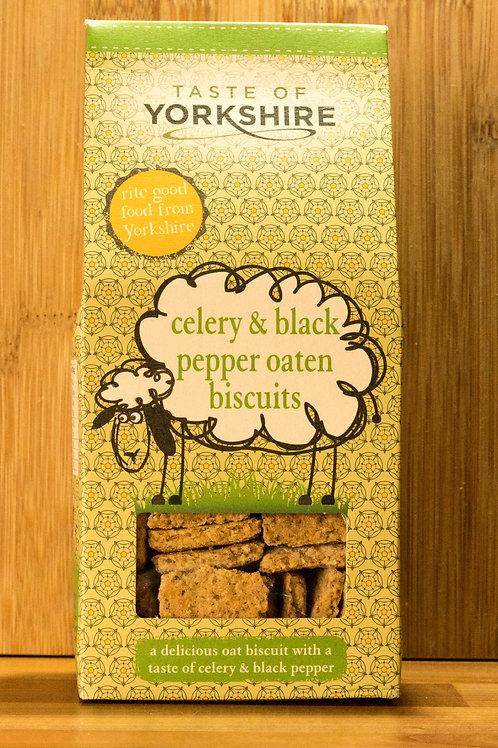 Taste of Yorkshire - Celery & Black Pepper Oaten Biscuits