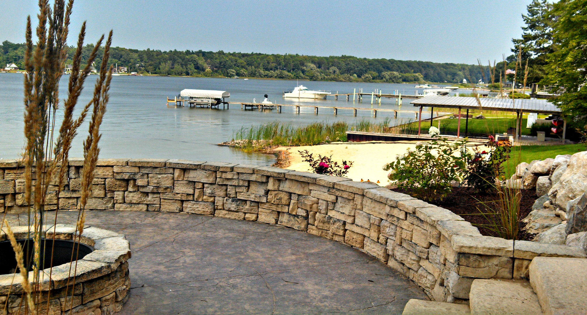 Pentwater Lake Patio & Seat Wall