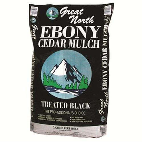 Cedar Mulch BLACK (2 cf. bag)