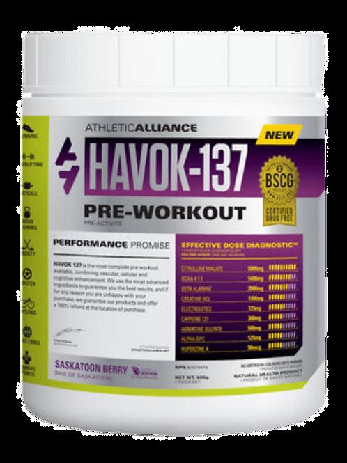 Athletic Alliance - Havok-137 Preworkout (60 servings)