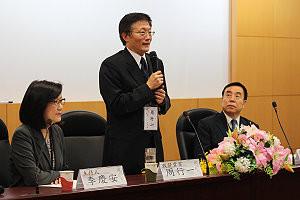 校長周行一期許中文系透過論壇,持續深耕儒學研究。攝影:劉晏如。