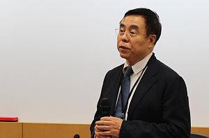 國際儒學聯合會秘書長牛喜平出席儒學論壇。攝影:劉晏如。