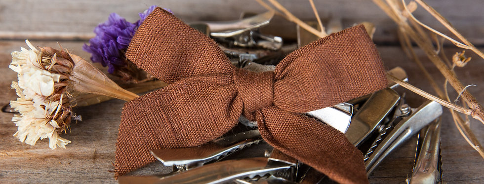 CHOCOLATE bow hair clip
