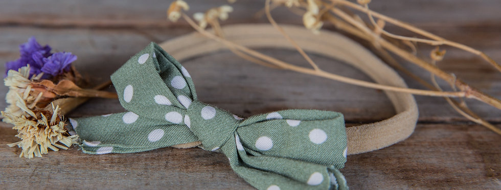 DOTTY bow stretch headband