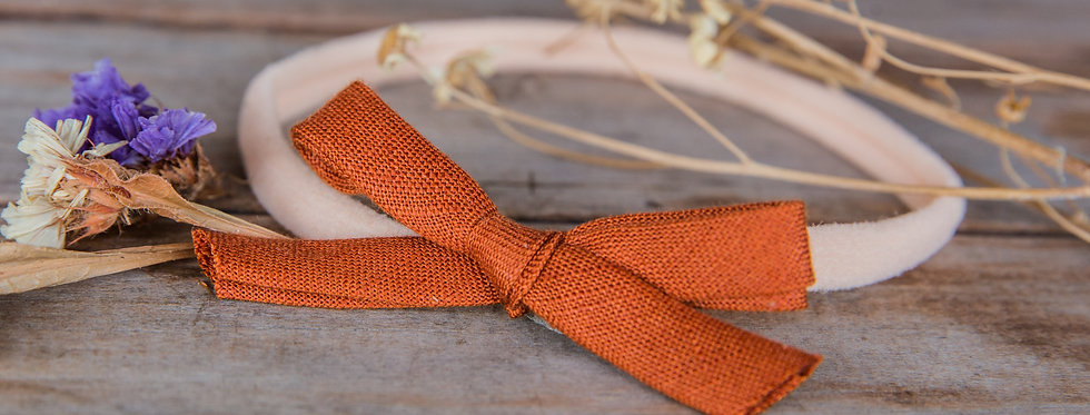 RUSTY bow stretch headband