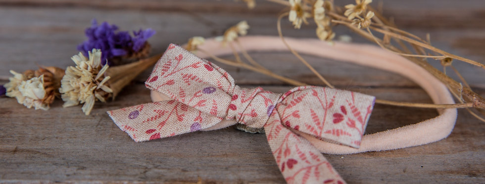 BOHO FLOR bow stretch headband