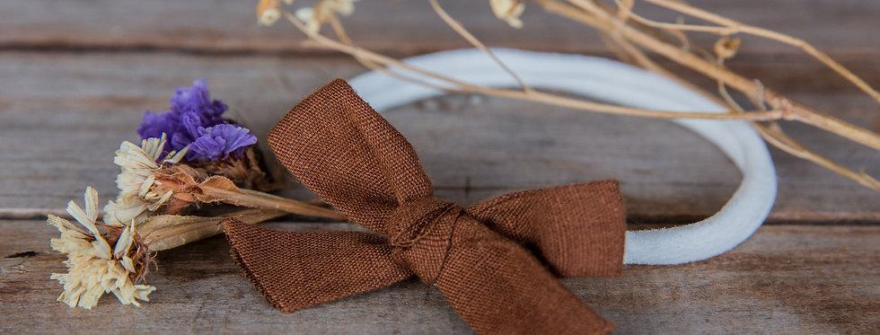 CHOCOLATE stretch bow headband