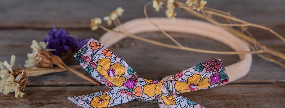 VINTAGE FLOR stretch bow headband