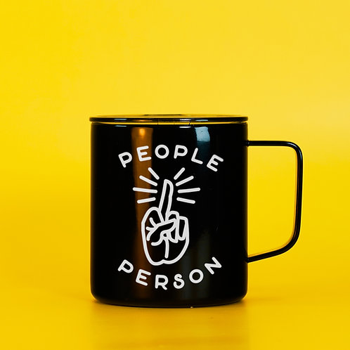 People Person Funny Anti-Social & Rude Travel Coffee Mug