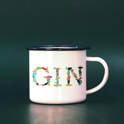 GIN Funny Boozy Enamel Mug