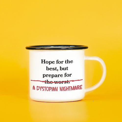 Funny and Sad Dystopian Nightmare Camp Mug