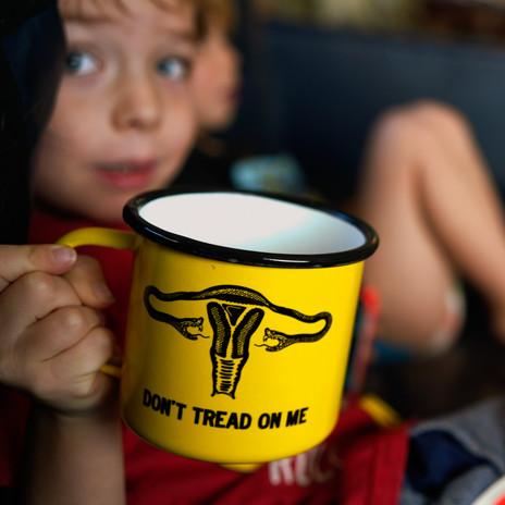 Don't Tread on Me Feminist Camp Mug