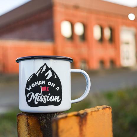 Woman on a Mission - Feminist Camp Mug
