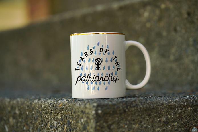 Tears of the patriarchy ceramic coffee mug
