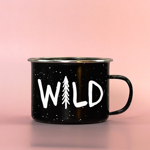 Wild Pine Tree Hiking Enamel Mug