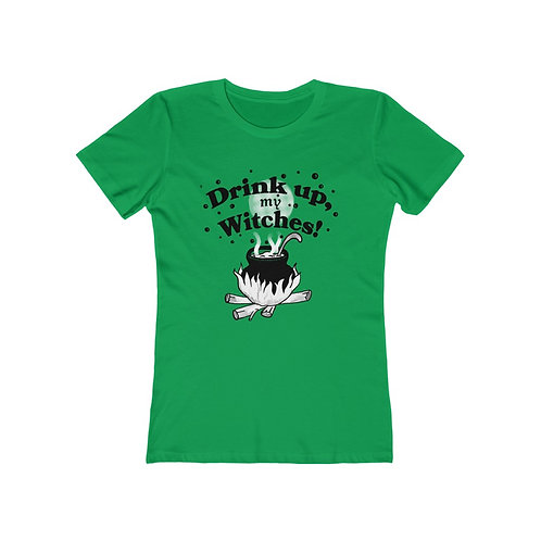 Drink Up Witches Halloween Womens T shirt