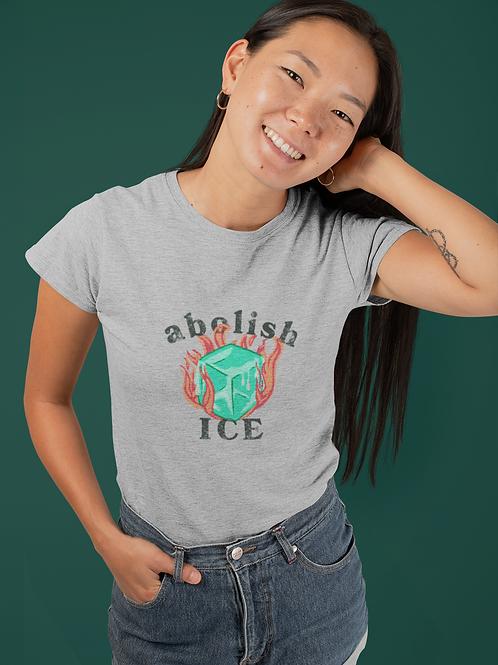 """Abolish ICE"" Pro Immigrant T-Shirt - Womens Boy-Fit"