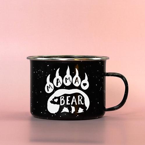 Mama Bear Enamel Camping Mug