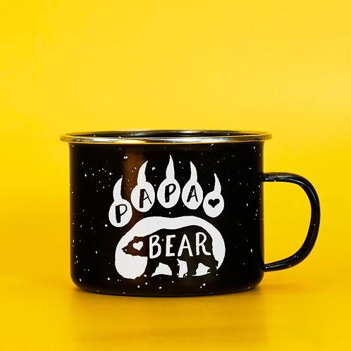 Papa Bear Enamel Camping Mug