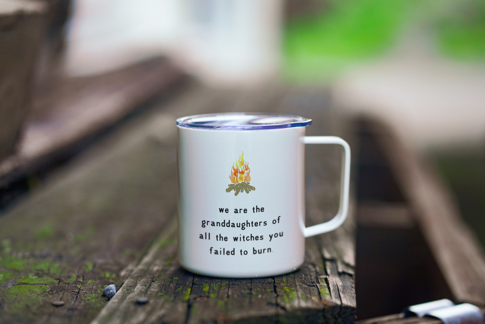 Feminist Travel Mug - We are the daughters of the witches