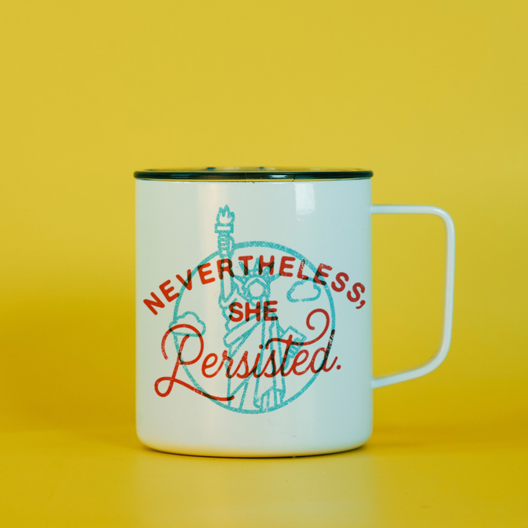 Nevertheless she persisted Feminist Travel Mug - Elizabeth Warren