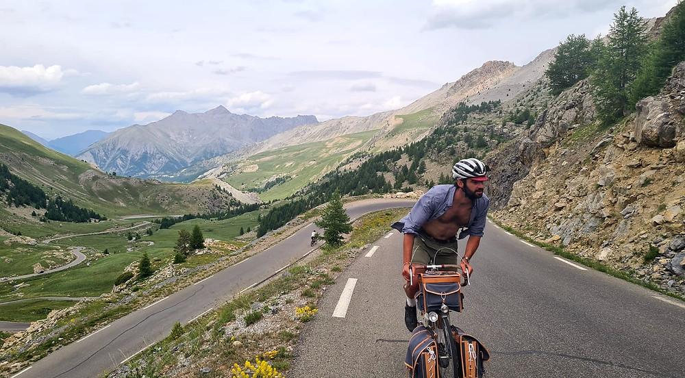 vélo voyage vintage col de la bonette rene herse
