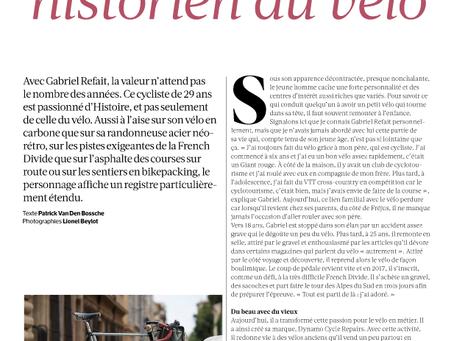 Un article dans le magazine Cyclist france
