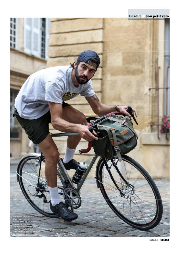 gabriel refait sur son vélo vintage gazelle