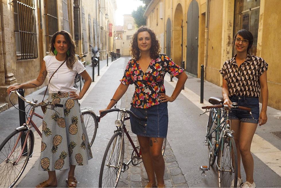 femme vélo vintage aix en provence