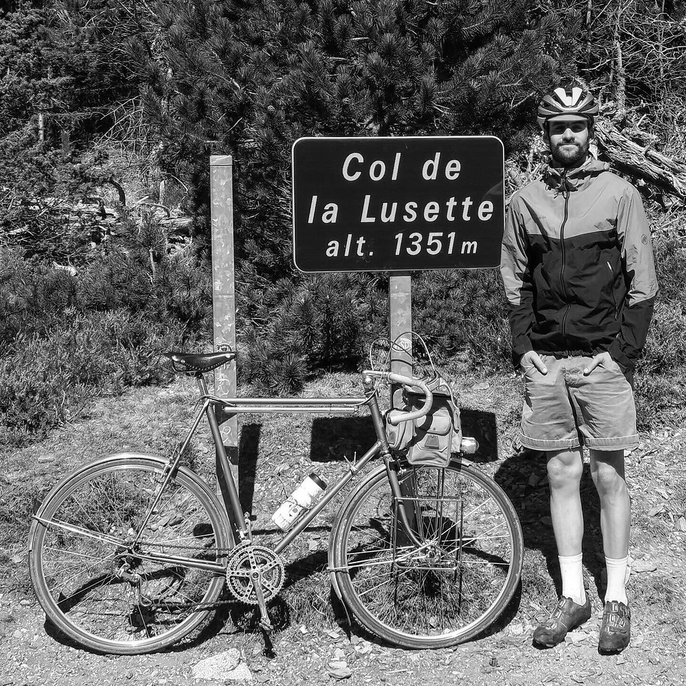 col de la lusette vélo vintage