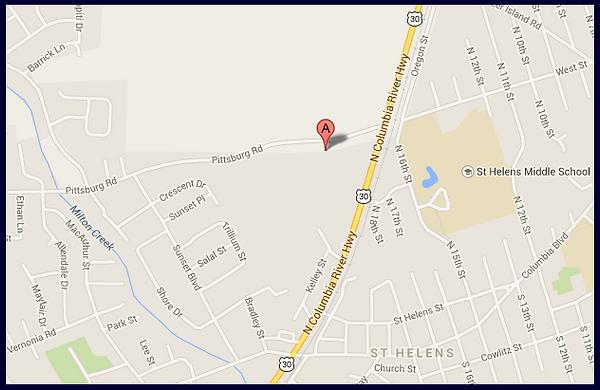St. Helens Dentist Location Map