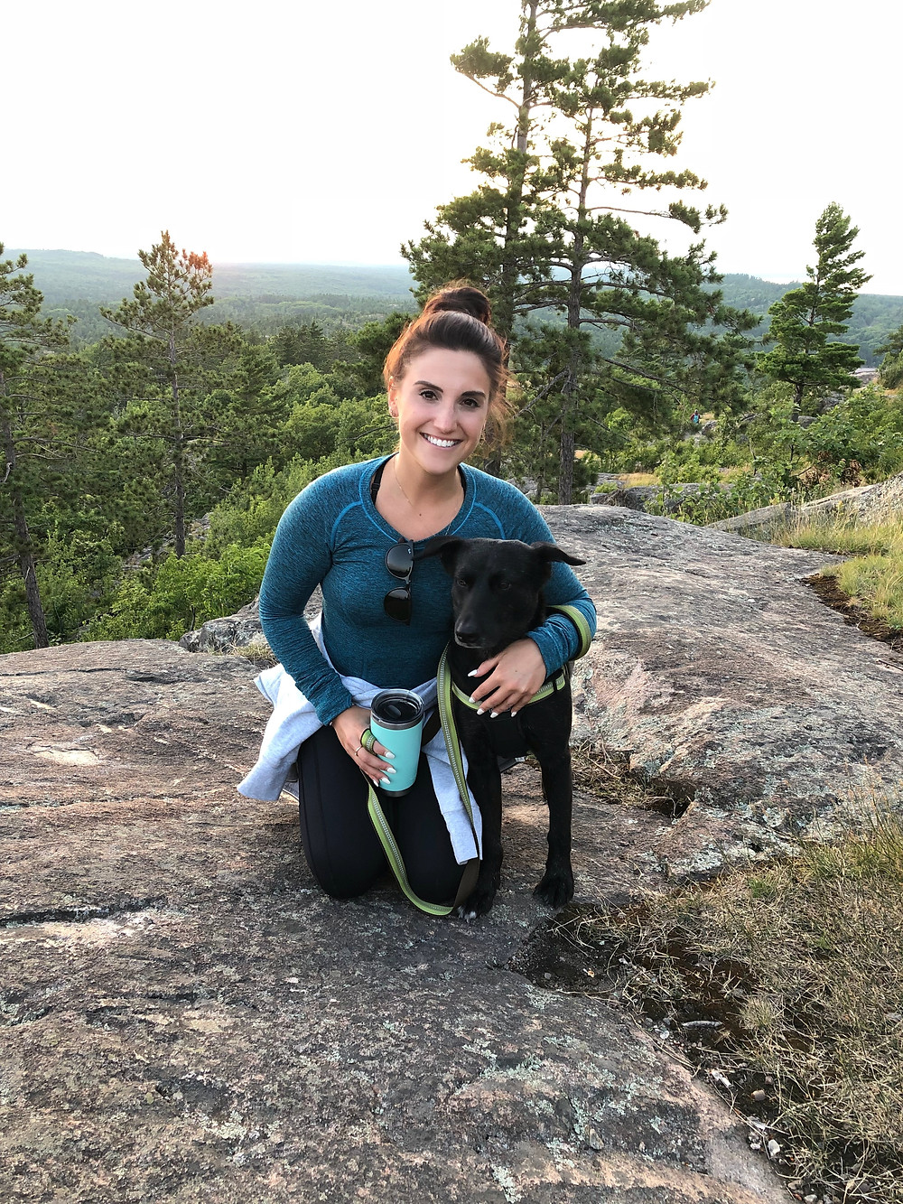 Me with my cute little rescue mutt, Roe at Sugarloaf Mountain in Marquette, MI
