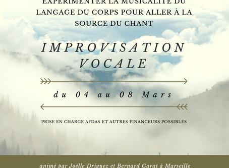 Formation Chant, corps et improvisation