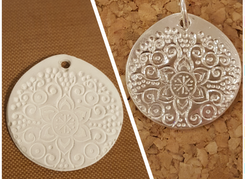 Silver clay pendant stamp