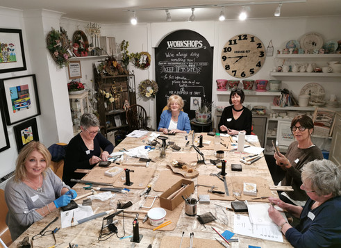 A lovely workshop group