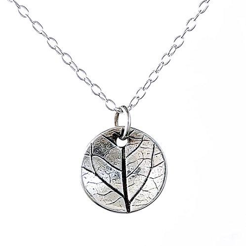 Sterling silver delicate Leaf Pendant