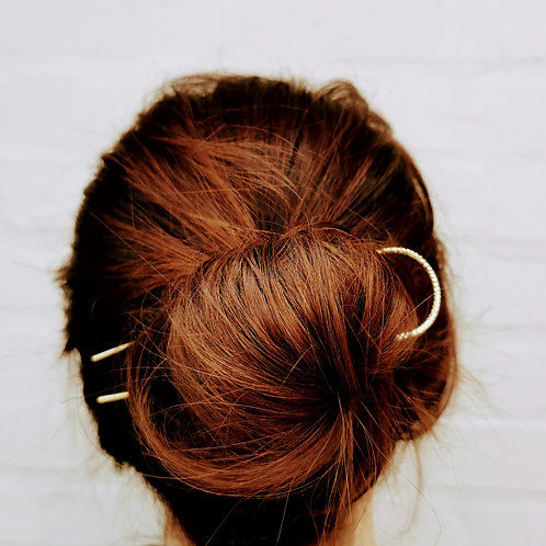 Textured French hair pin