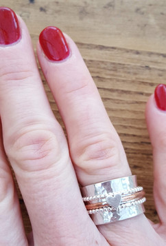 Spinning ring and polished nails