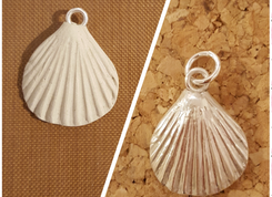 Silver clay shell