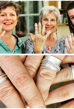 Three generation spinning ring making
