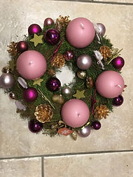 Verdure en cryptomeria,décorations de Noël