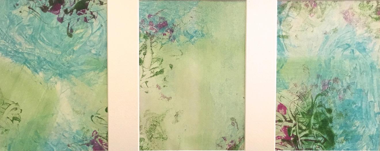 Spring garden triptych