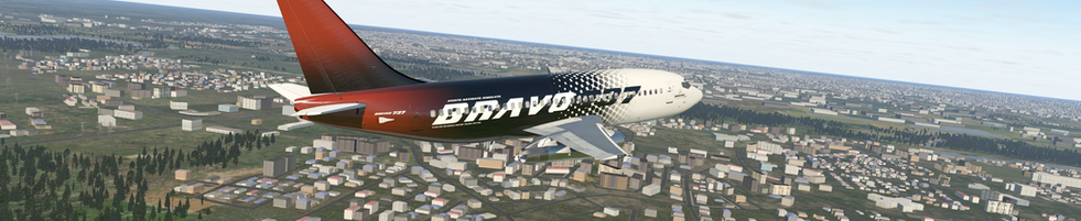 LOW PASS BY THE BRAVO 737-200