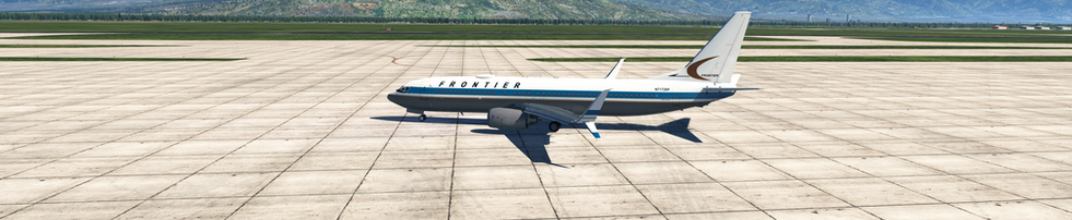 FRONTIER AIRLINES TAXING AT KSLC