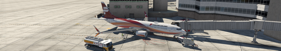 REIMAGINED FRONTIER AIRLINES ZIBO PARKED AT KDEN