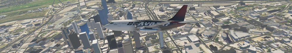 CLIMBING OUT OF KDAL WITH DOWNTOWN DALLAS, TEXAS, USA