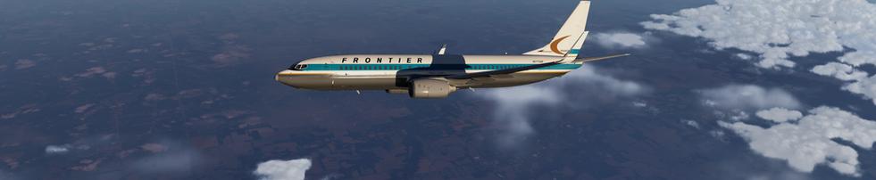 FRONTIER AIRLINES OVER WESTERN COLORADO, FL330