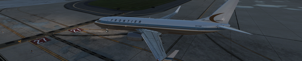 FRONTIER ZIBO 737 LINING UP FOR TAKE OFF, KCVG
