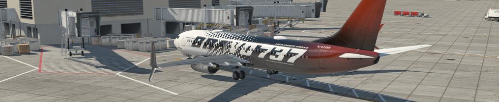 BRAVO 737 PARKED AT KLAS