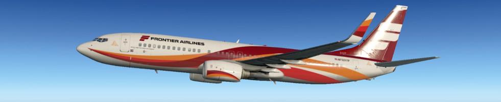 REIMAGINED FRONTIER ZIBO FLYING OVER CHICAGO AREA